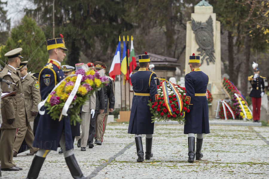 BUCURESTI - CEREMONIE DE COMEMORARE - MILITARI BULGARI FRANCEZI GERMANI