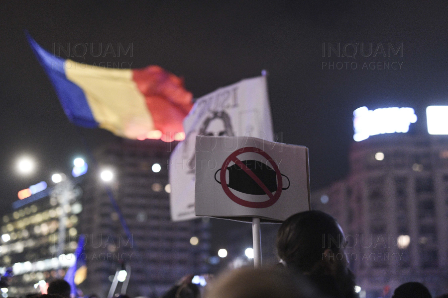 BUCURESTI - PROTEST - RESTRICTII COVID-19 - 30 MAR 2021