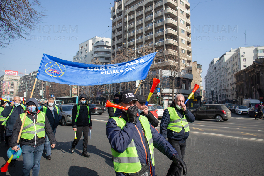 BUCURESTI - PROTEST - SNPPC - 23 FEB 2021