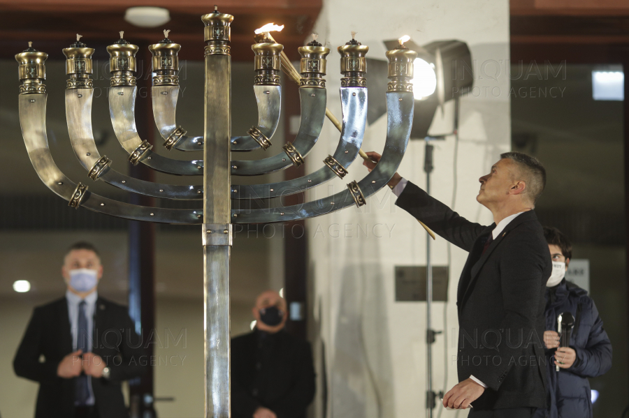BUCURESTI - TNB - CEREMONIE HANUKKAH - 10 DEC 2020